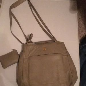 Stone Mountain shoulder bag with change mini bag